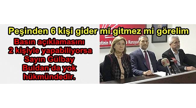 İL BAŞKANI AKBABA GÜLBAY'A CEVAP VERDİ