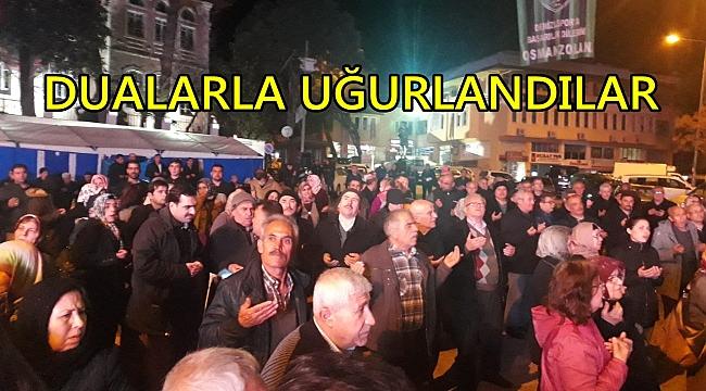 BULDAN'DA UMRE KAFİLESİ YOLA ÇIKTI