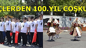 19 MAYIS'IN 100.YILI COŞKUYLA KUTLANDI
