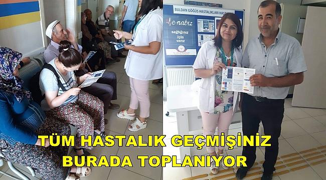 HASTANE'DE VATANDAŞLARA E-NABIZ ANLATILDI