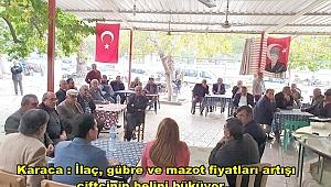 GÜLİZAR BİÇER KARACA BULDAN'DA VATANDAŞLARLA BULUŞTU