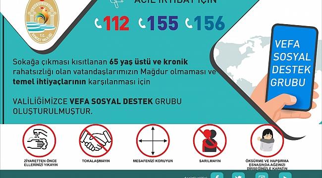 BULDAN'DA 65 YAŞ ÜSTÜ İÇİN VEFA GRUBU OLUŞTURULDU