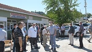 KAYMAKAM SARI KOVANOLUK'DA HALK TOPLANTISI DÜZENLEDİ