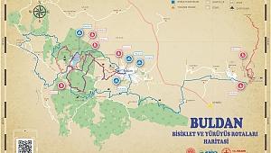BULDAN'IN 160 KM'LİK BİSİKLET VE YÜRÜYÜŞ ROTASI BELİRLENDİ