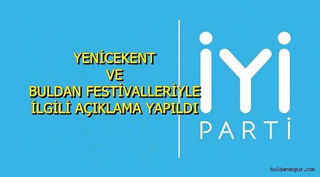 İYİ PARTİ'DEN FESTİVAL ÖNERİSİ